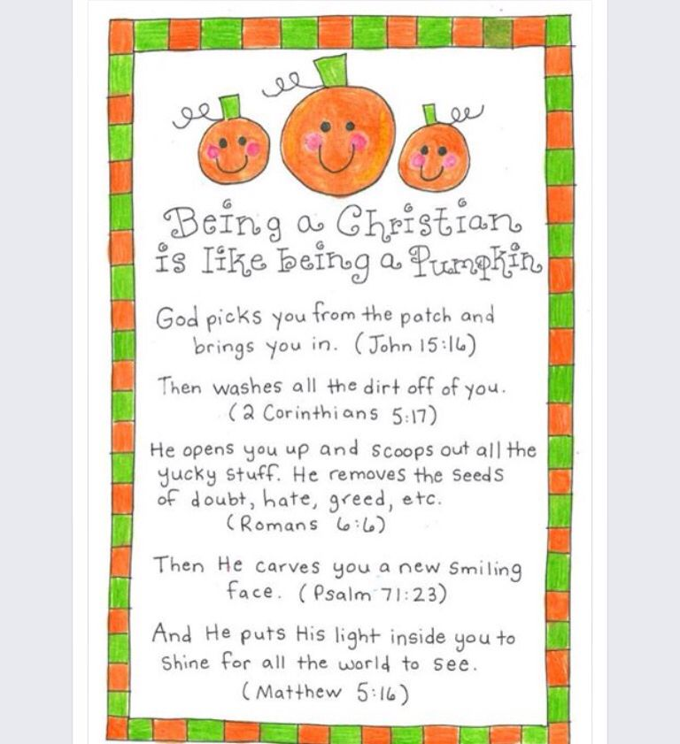 Current image within pumpkin patch parable printable