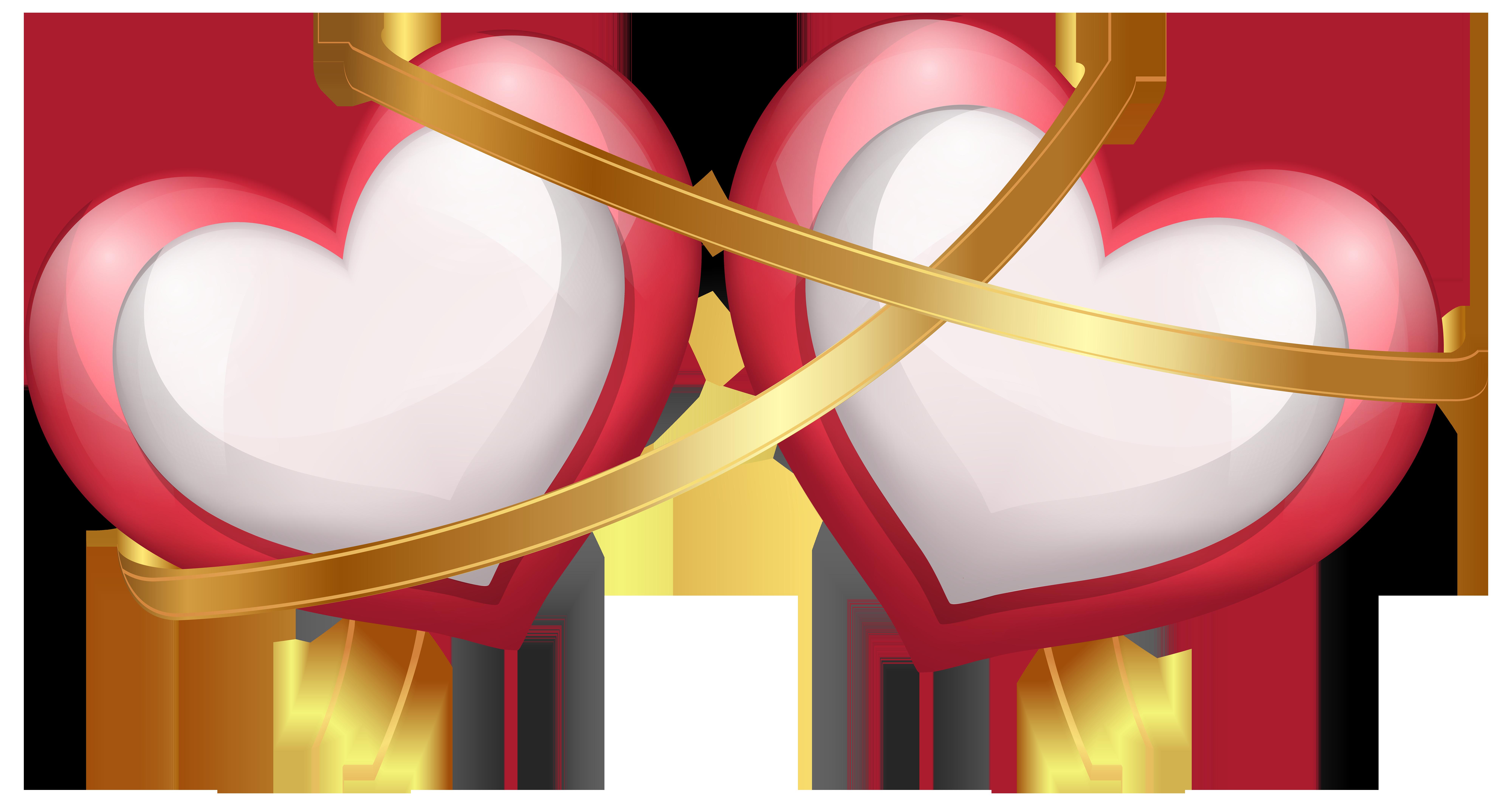 Two Hearts With Ribbon Transparent Png Clip Art Image Png Minnie Png Fotos De Criancas