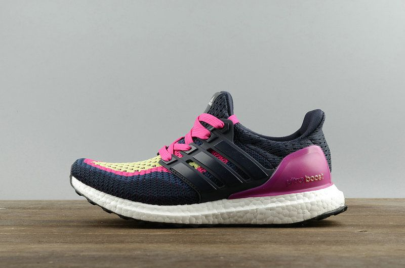 1827aaaaa42 Pas Cher Adidas Ultra Boosts Night Navy Pink White blanc AF5143 Youth Big  Boys Sneakers