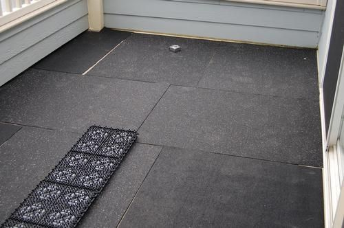 Rubber matting in case I have a carpeted rental - small pet room