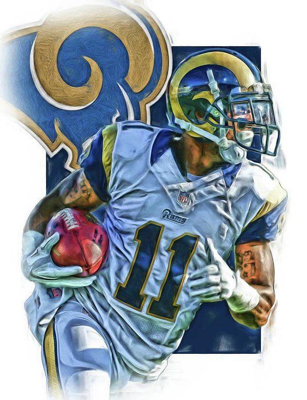 Tavon Austin Los Angeles Rams Oil Art 2 Art Print By Joe Hamilton Football Canvas Rams Football Joe Hamilton