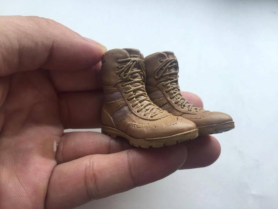"""1//6 Scale VeryHot toy Combat Mercenary Sand version Boots for 12/"""" action figure"""