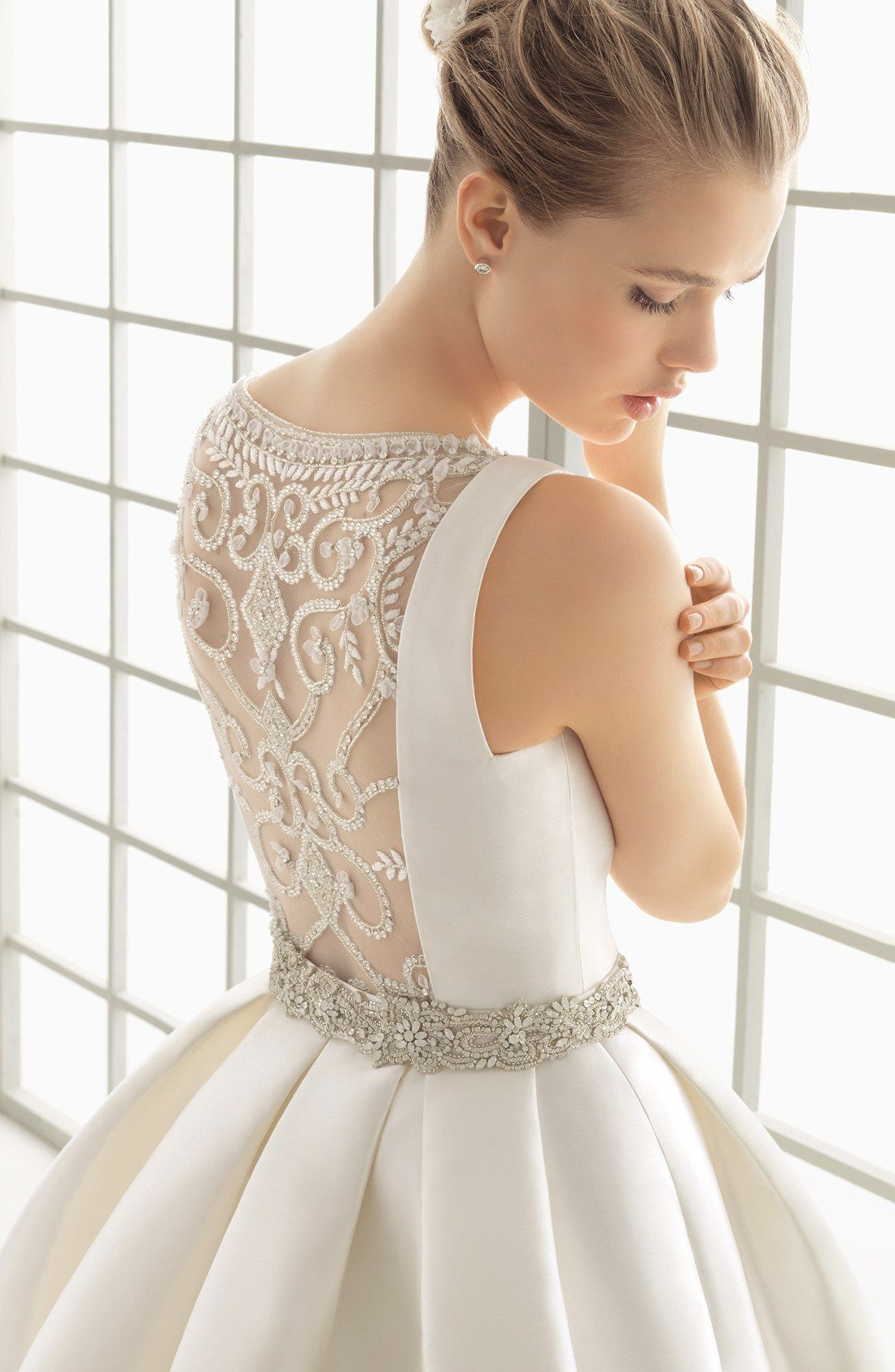 Rosa Clara Delfos Beaded Back Ballgown Dress In Stores Only