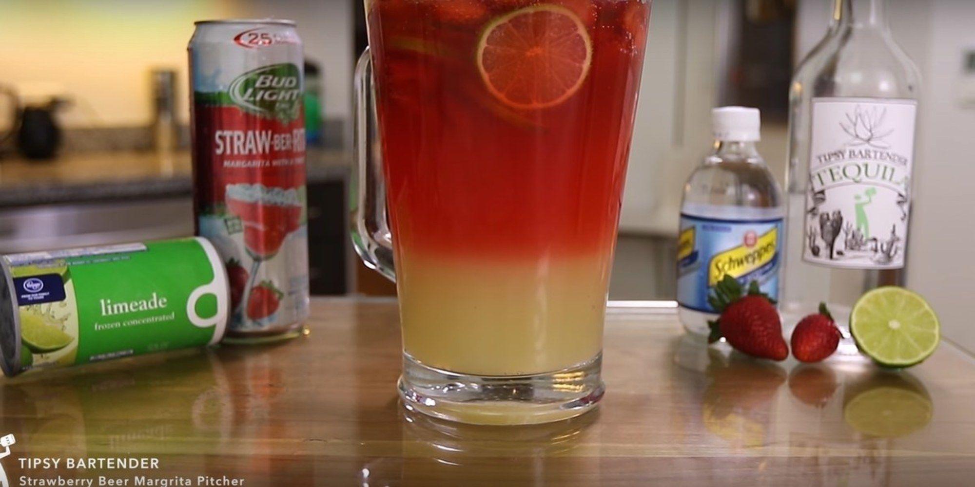 Strawberry Beer Rita Makes For The Perfect Weekend Cocktail Recipe Strawberry Beer Strawberry Beer Margarita Recipe Beer