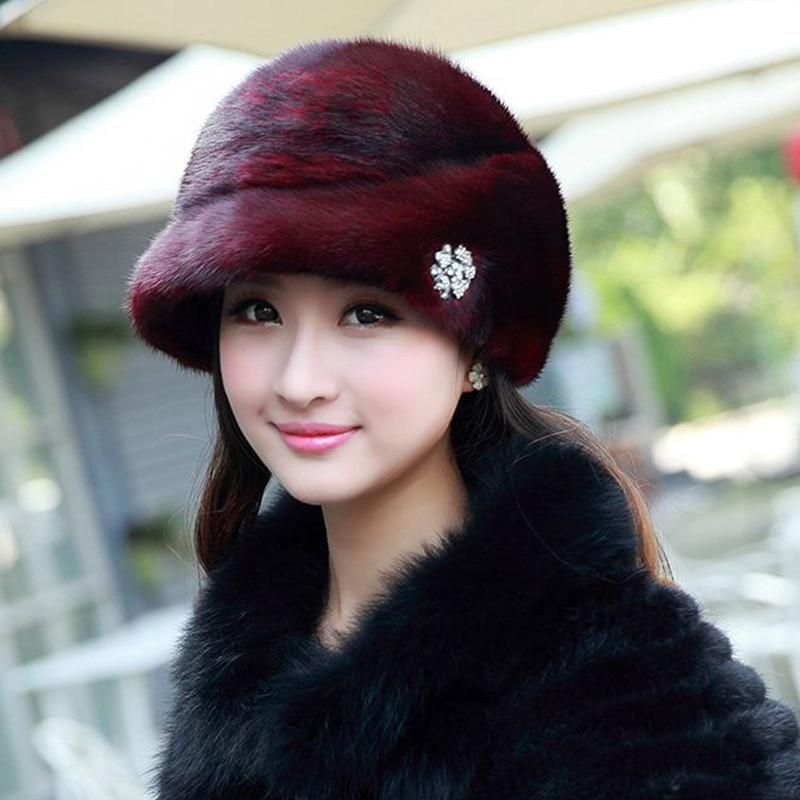 Fashion Winter Warm Russian Hat Women s Cap Solid Various Raeal Brbbit Fur  Hat For Ladys Female Causal Good Quality Caps H 61. Yesterday s price  US   128.90 ... da5b92c63d71