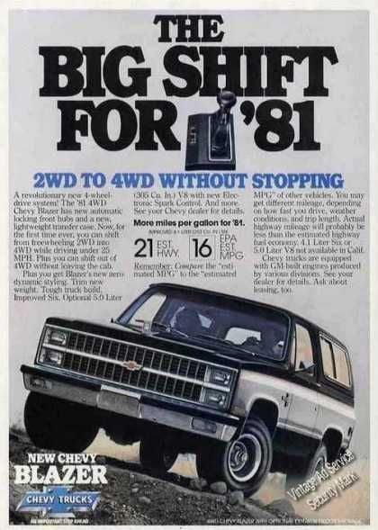 Vintage Car Advertisements Of The 1980s Page 13 Chevy Chevrolet Car Advertising