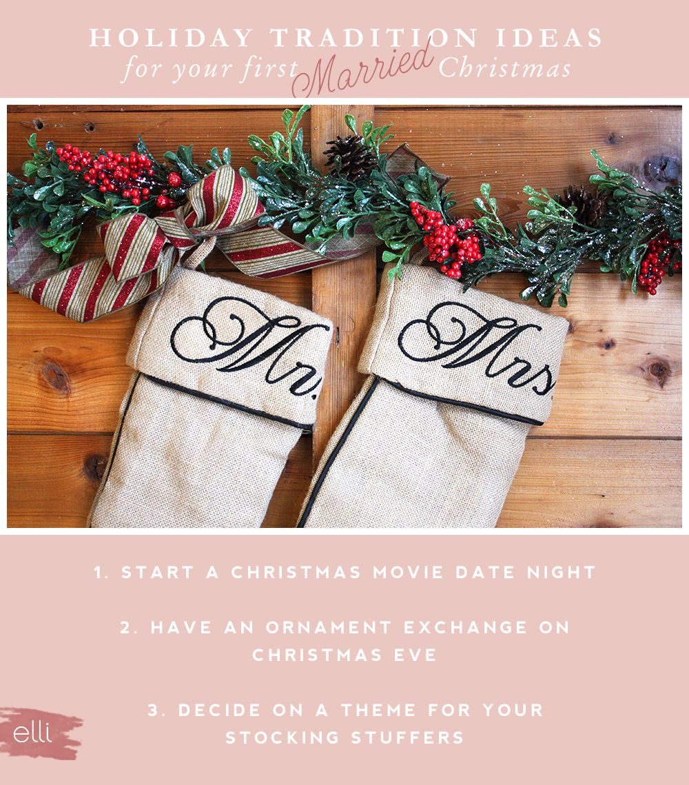 Fun Christmas tradition ideas for your first married christmas! Don ...