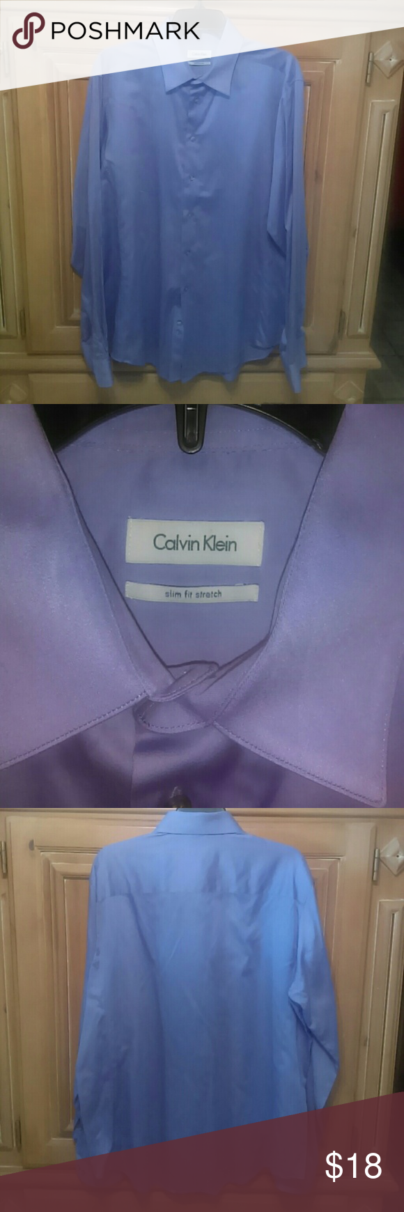 Calvin Klein shirt Pre-owned Calvin Klein. Slim fit stretch button up shirt Calvin Klein Shirts Dress Shirts