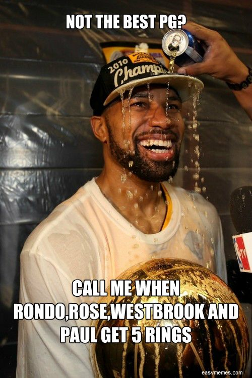NOT THE BEST PG? CALL ME WHEN RONDO,ROSE,WESTBROOK AND PAUL GET 5 RINGS