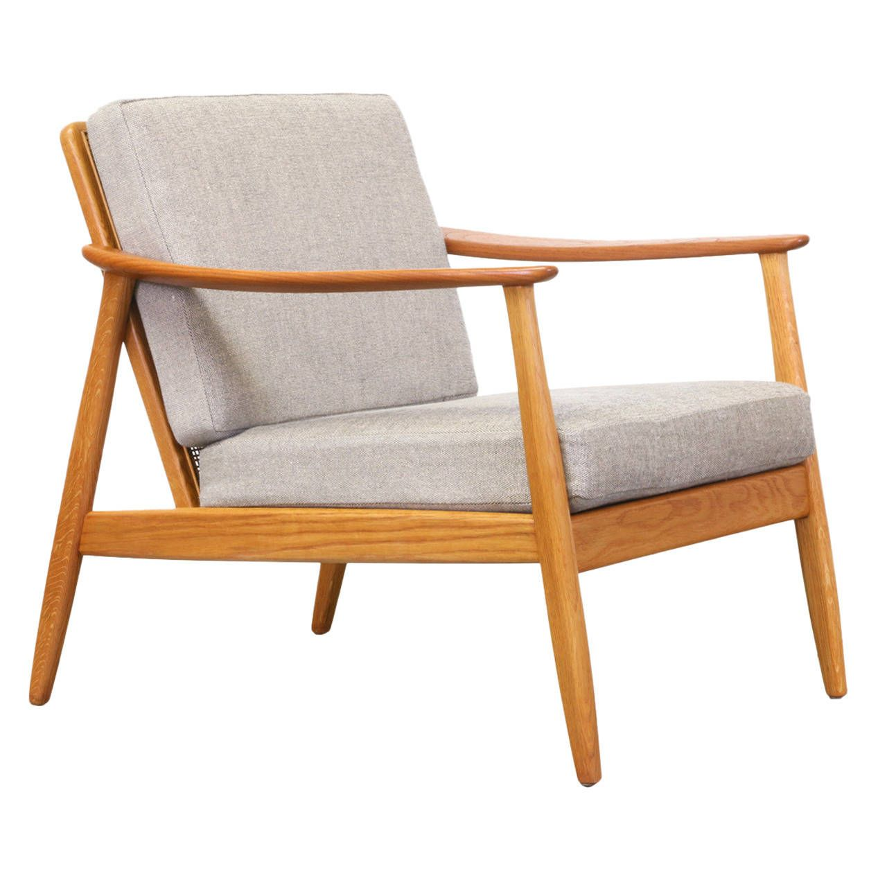 Folke Olhsson Lounge Chair With Cane Backrest For Dux From A