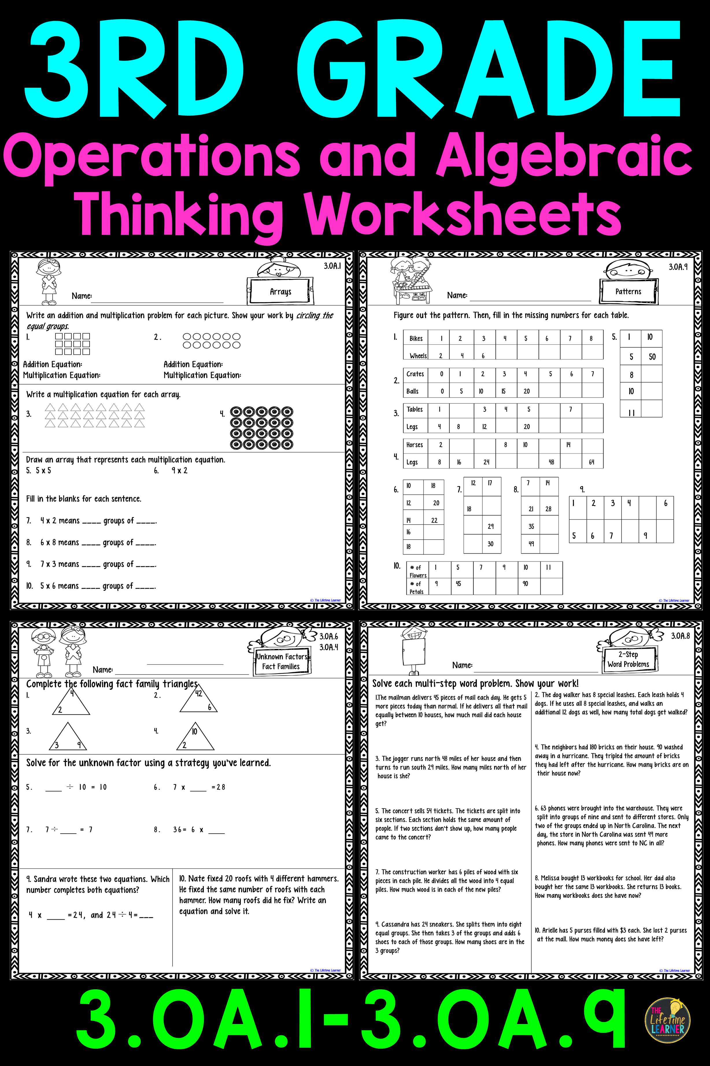 These multiplication and division worksheets are perfect for 3rd graders.  They align wi…   Multiplication and division worksheets [ 3684 x 2456 Pixel ]