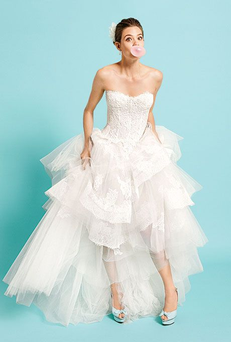 Fun Flirty Tiered Wedding Dresses