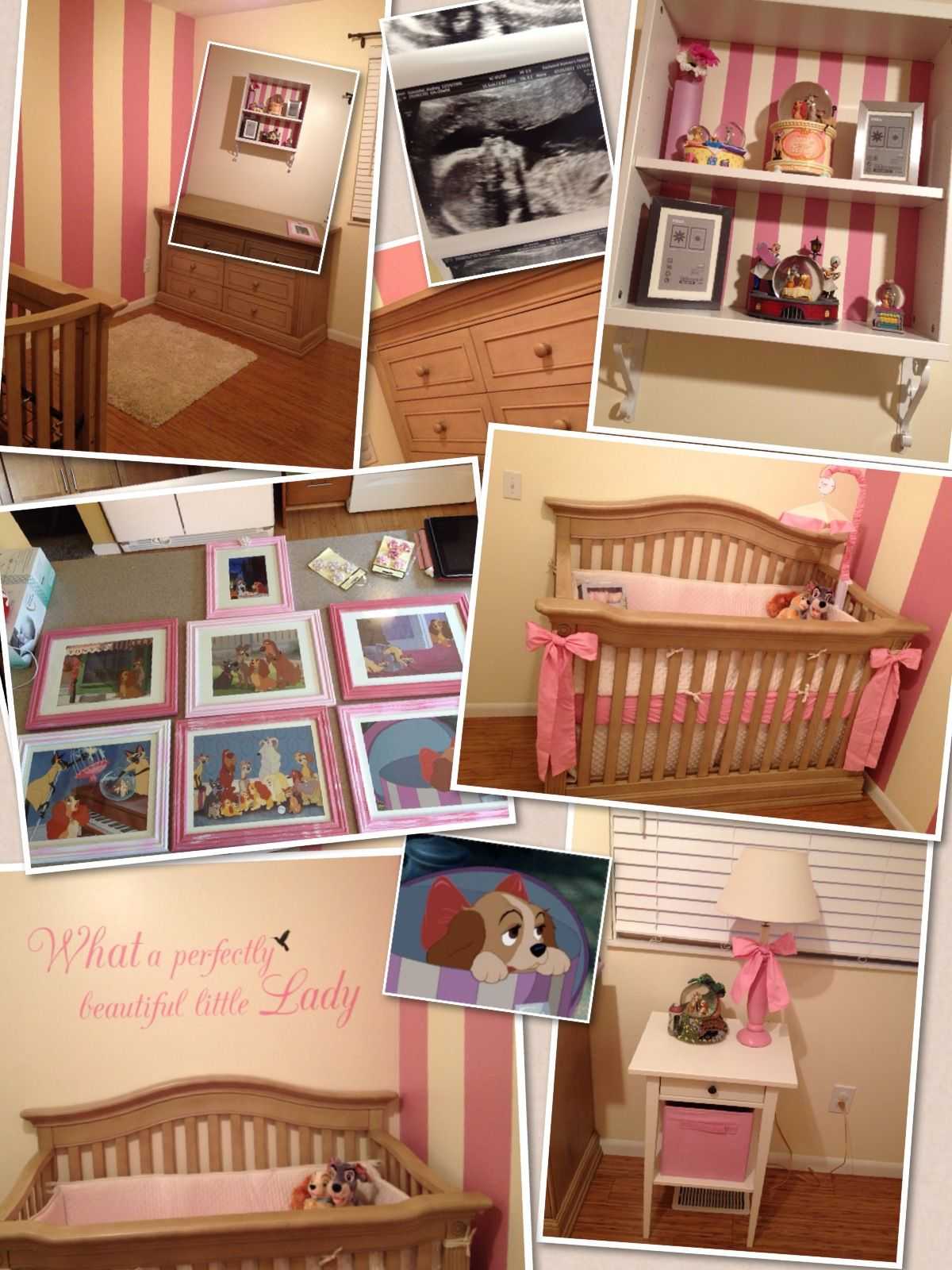 Lady And The Tramp Nursery If I Have A Little Girl This Is It I Love Lady And The Tramp Baby Girls Nursery Girls Disney Nursery Baby Girl Room