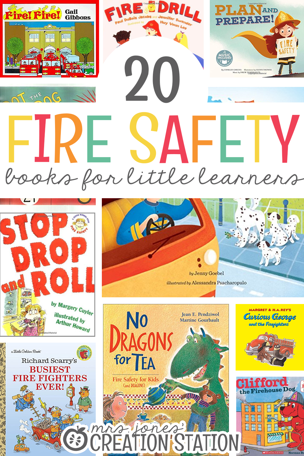 20 Fire Safety Books for Kids Fire safety, Preschool