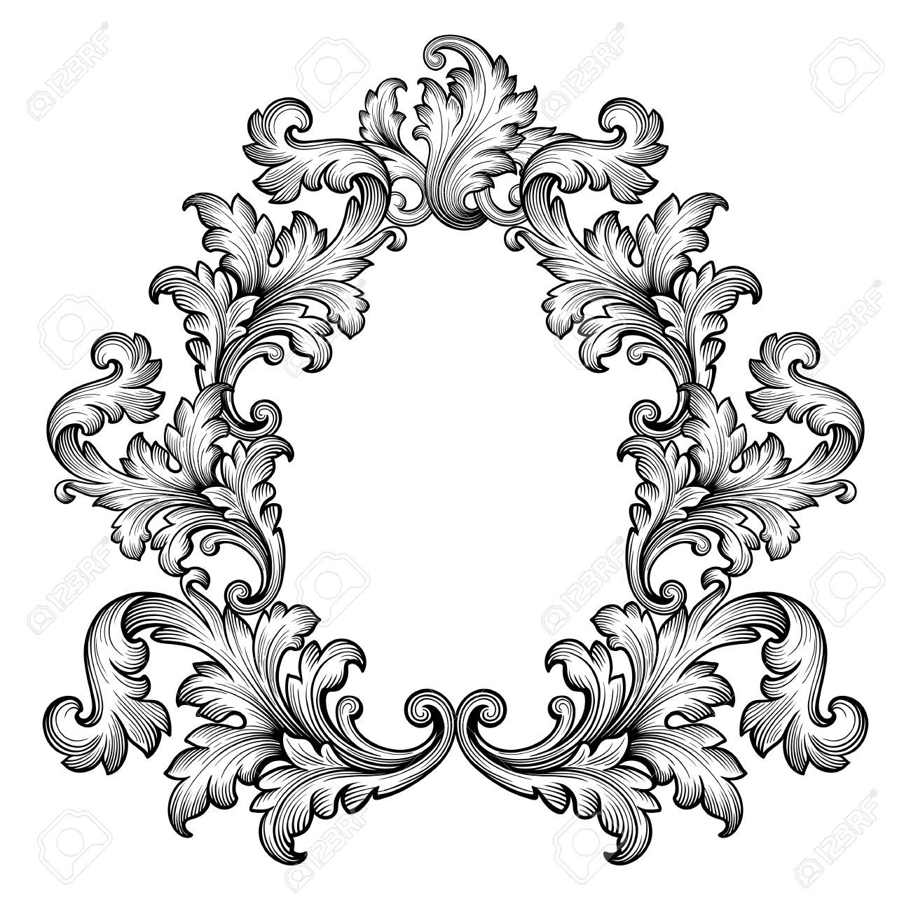 vintage frame tattoo designs. Vintage Baroque Frame Scroll Ornament Engraving Border Retro.. Royalty Free Cliparts, Vectors, And Stock Illustration. Image 35309665. Tattoo Designs