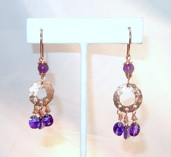 Purple Cubic Zirconia and Amethyst Solid by blingbychristine