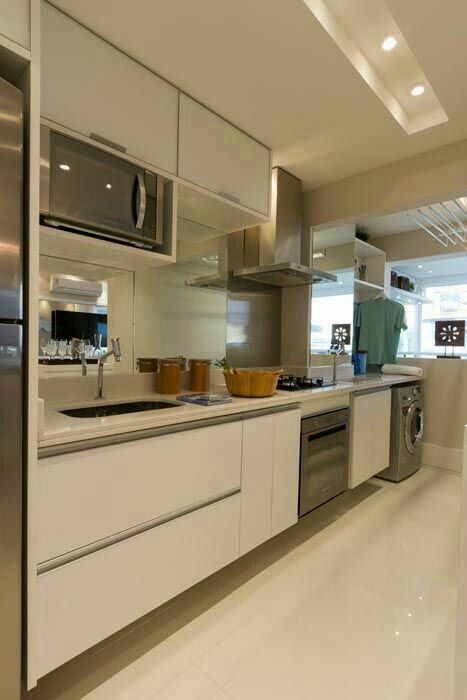 cocinasmodernasblancas | decoración | Pinterest | Casas modernas ...