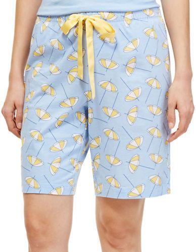 Nautica Printed Bermuda Shorts Women's Placid Blue Medium