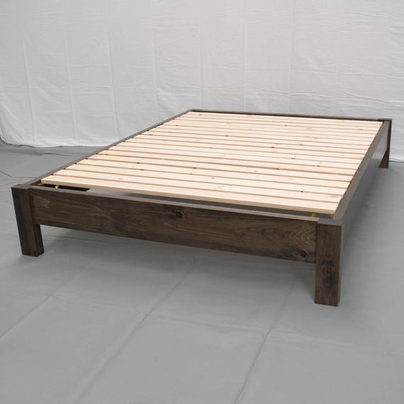 Best Rustic Farmhouse Platform Bed Traditional Platform Frame 400 x 300