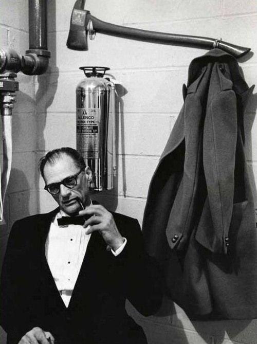 Arthur Miller, 1956. Photo: Dennis Stock.