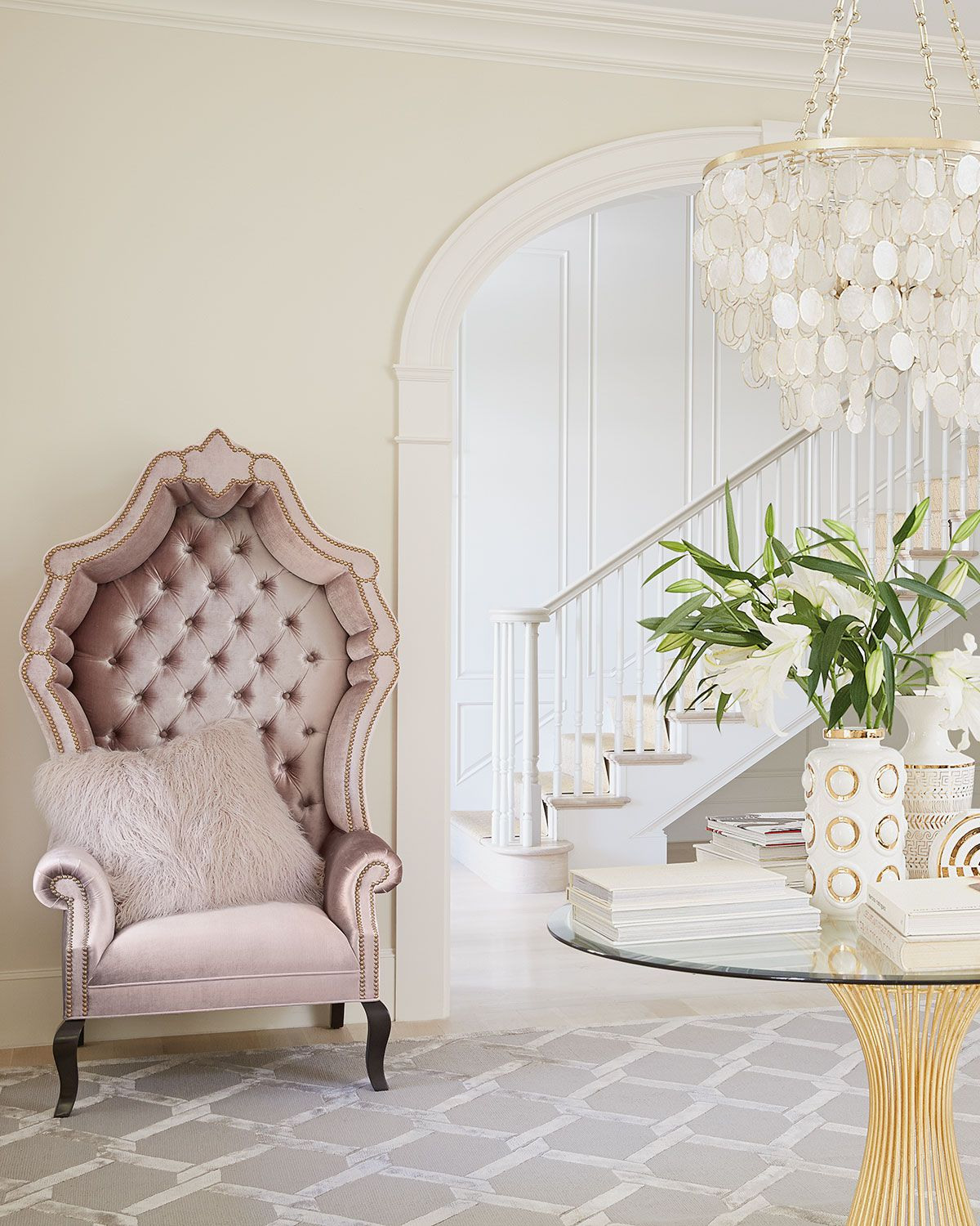 Tufted Living Room Chair Haute House Antoinette Tufted Chair Exclusively At Horchowcom