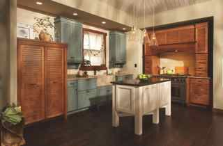 A Very Unique Yet Traditional Look To This Kitchen Get Yours Remodeled Today By Craftsm Kitchen Design Centre Different Color Kitchen Cabinets Kitchen Design
