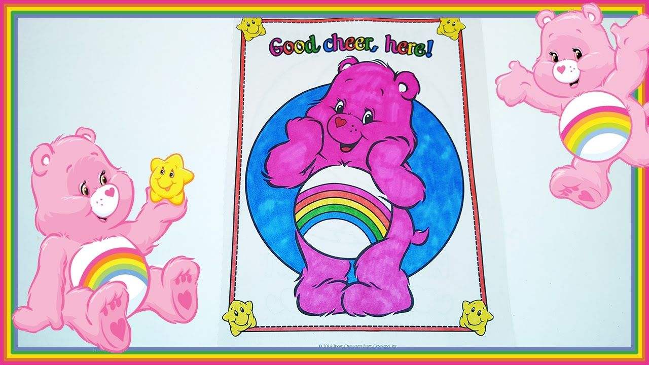 Coloring Corner Care Bear | Coloring Cheer Bear | Care Bear Coloring ...