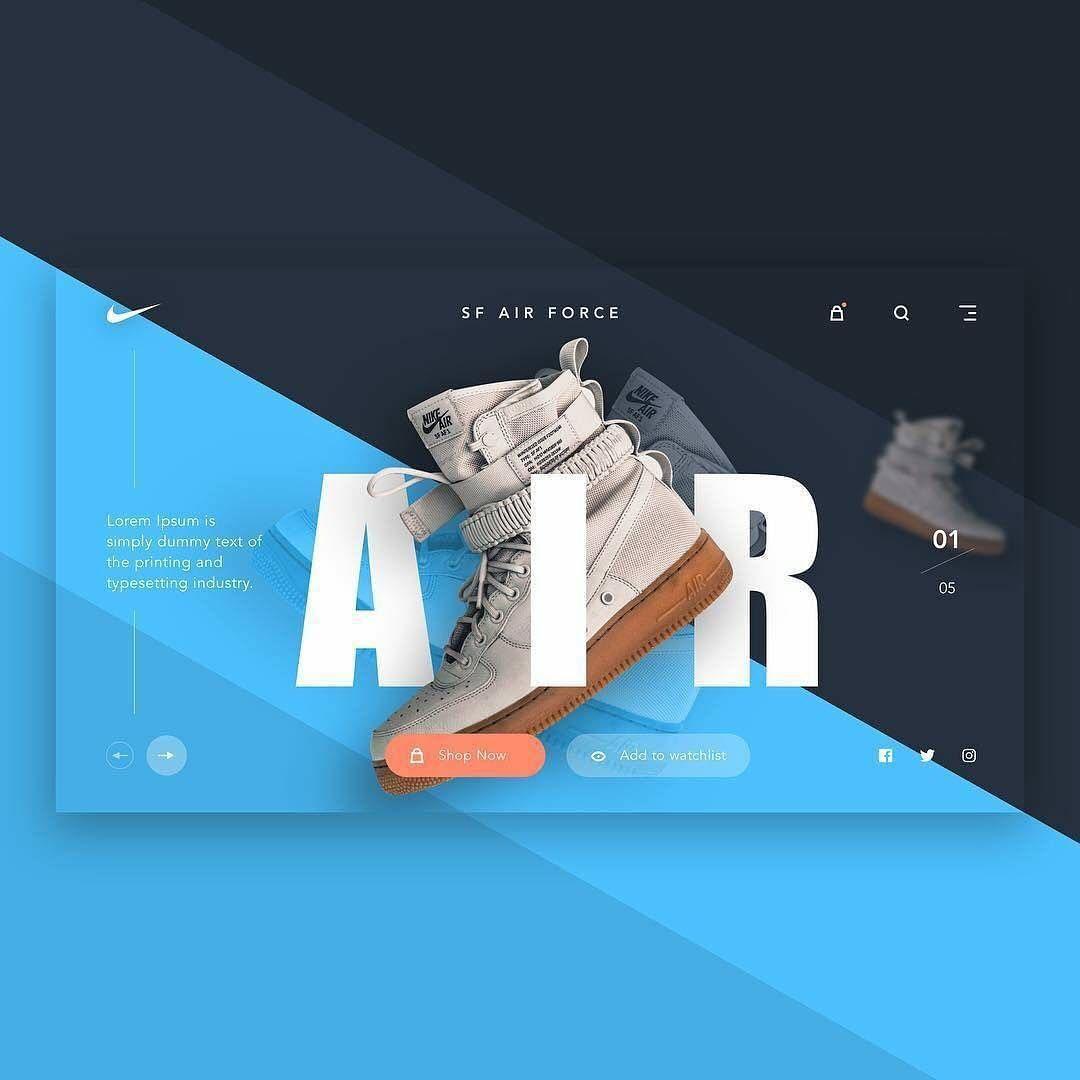 Web Design Nike Sf Air Force Product Page Have An Enquiry Dm Us Follow Theuiuxc Web Design Facebook Ads Design Web Design Inspiration
