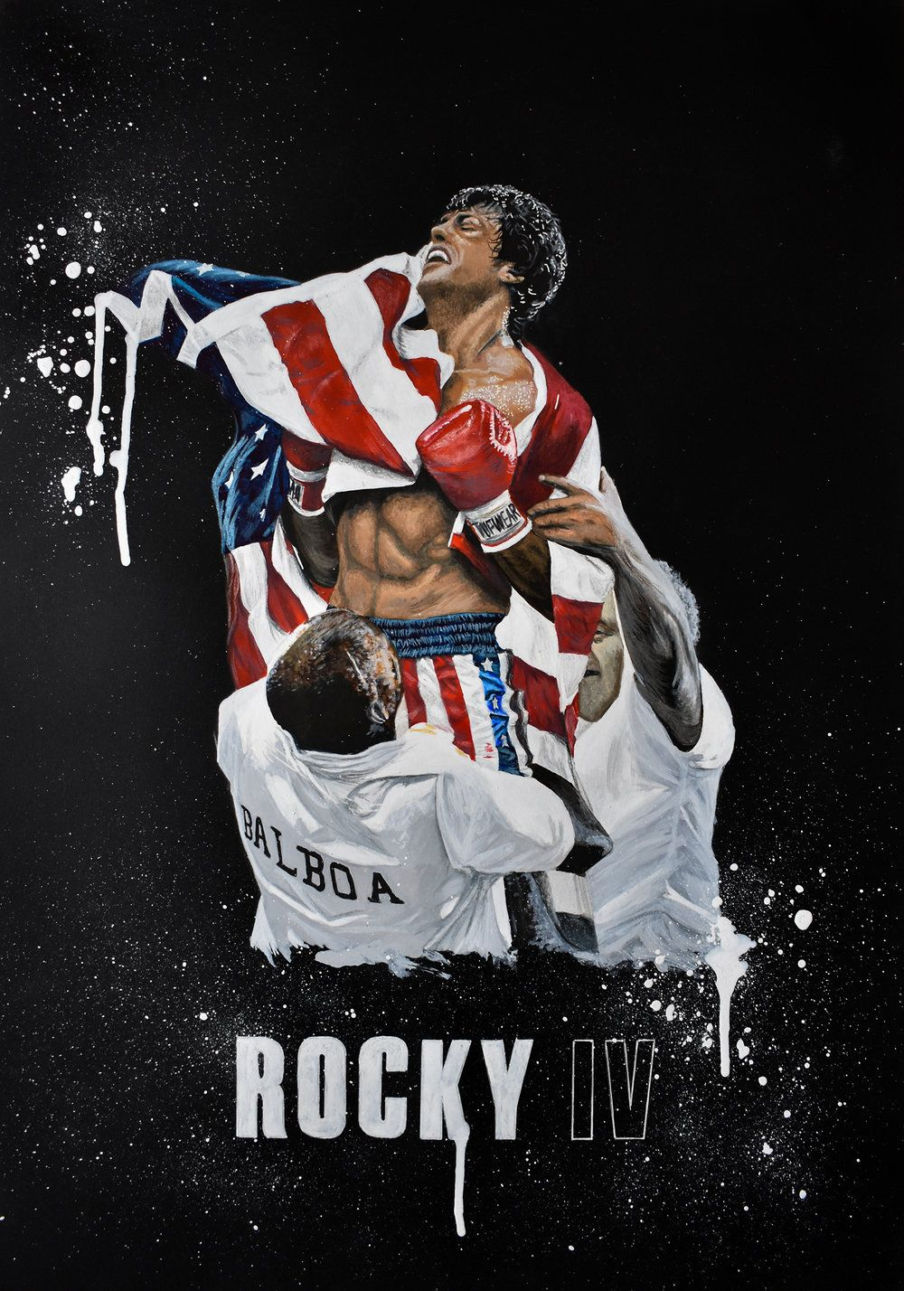 Rocky Iv Pop Art Painting Commission Obrazky