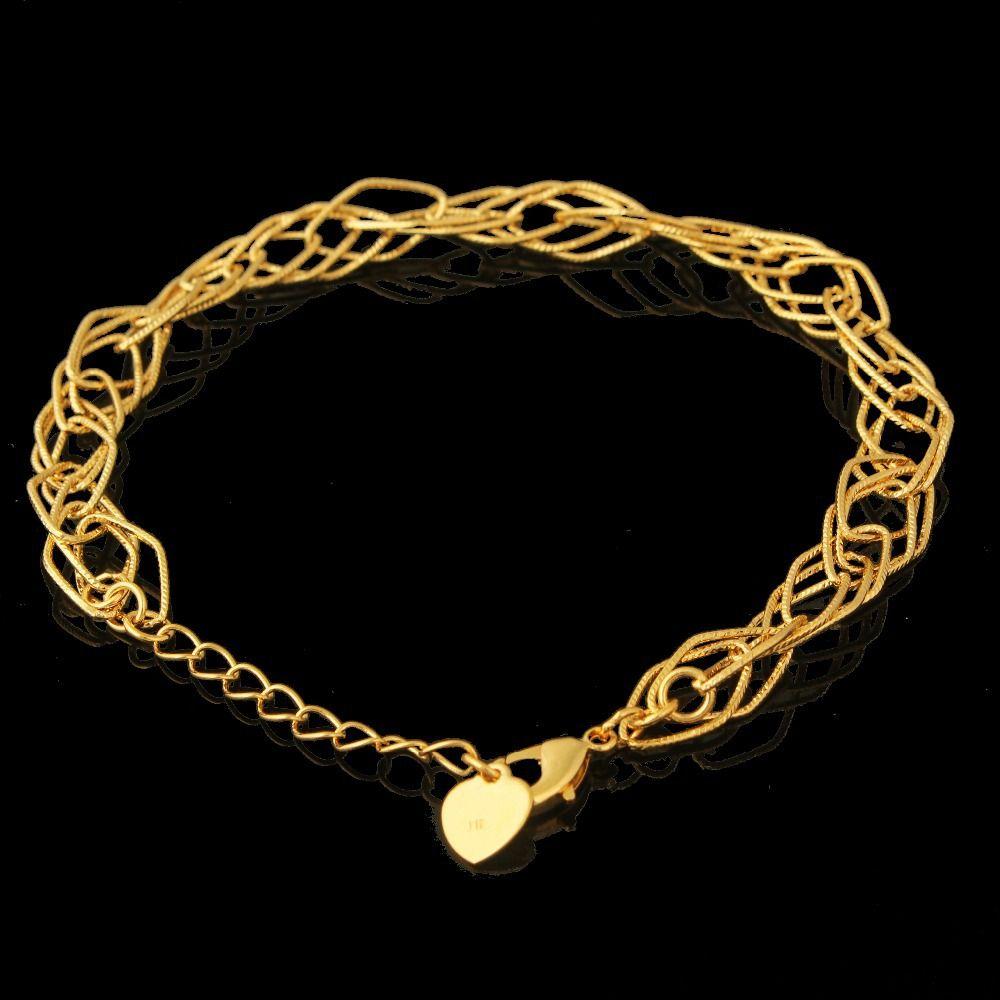Hot sale fashion charm bracelet gold color unique cm mm