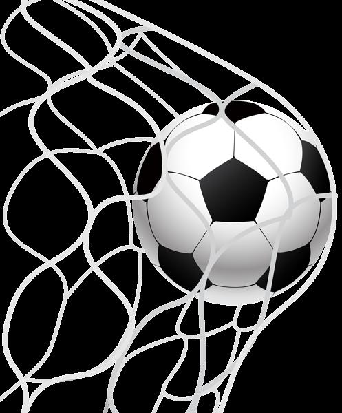 Soccer Ball Goal In A Net Png Clip Art Image Soccer Ball Soccer Soccer Images