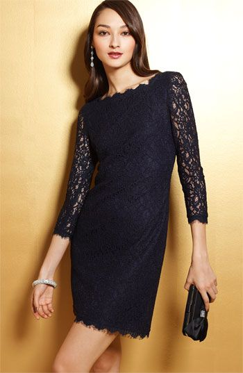 Adrianna Papell Lace Overlay Long Dresses