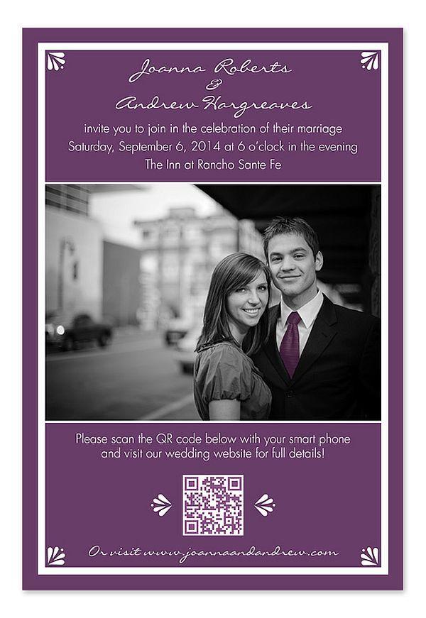 wedding invitation ideas purple Google Search