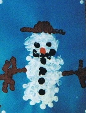 Basteln winter kinderspiele handabdr cke for Winter basteln im kindergarten