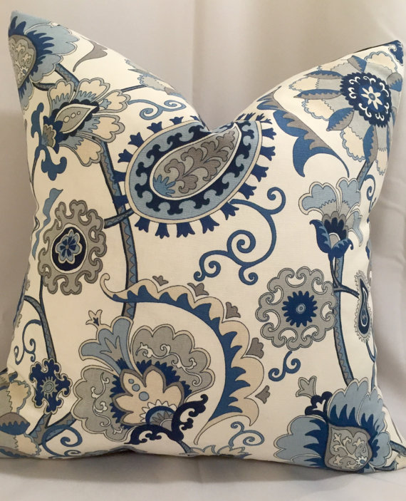 Indigo Blue And Gray Pillow Indigo Decorative Pillow Indigo Accent Fascinating Blue And Grey Decorative Pillows