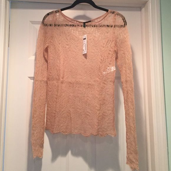 Knit Sweater Nude/blush colored knit sweater. Benetton Sweaters Crew & Scoop Necks