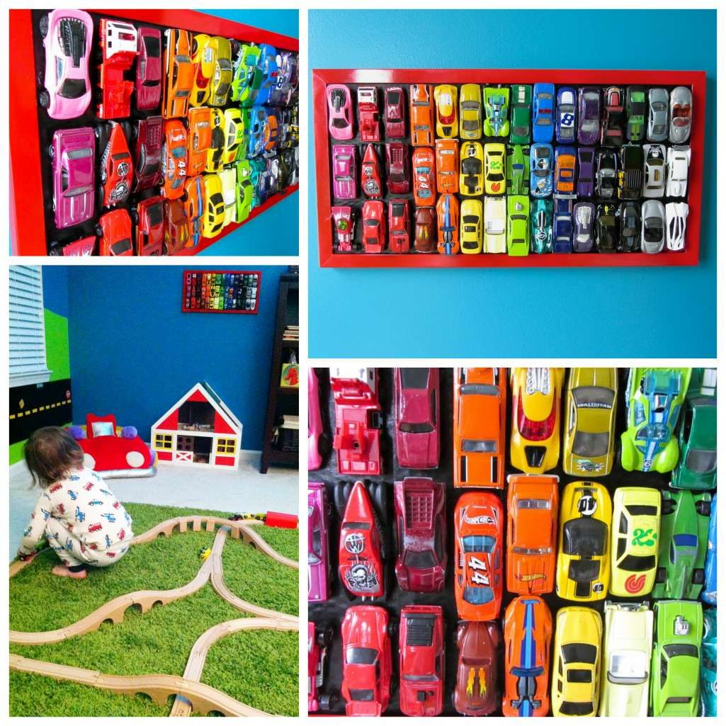 Car mirror hanging toys  Create A Super Cute Wall Hanging From Your Kidus Toy Cars  Diseños