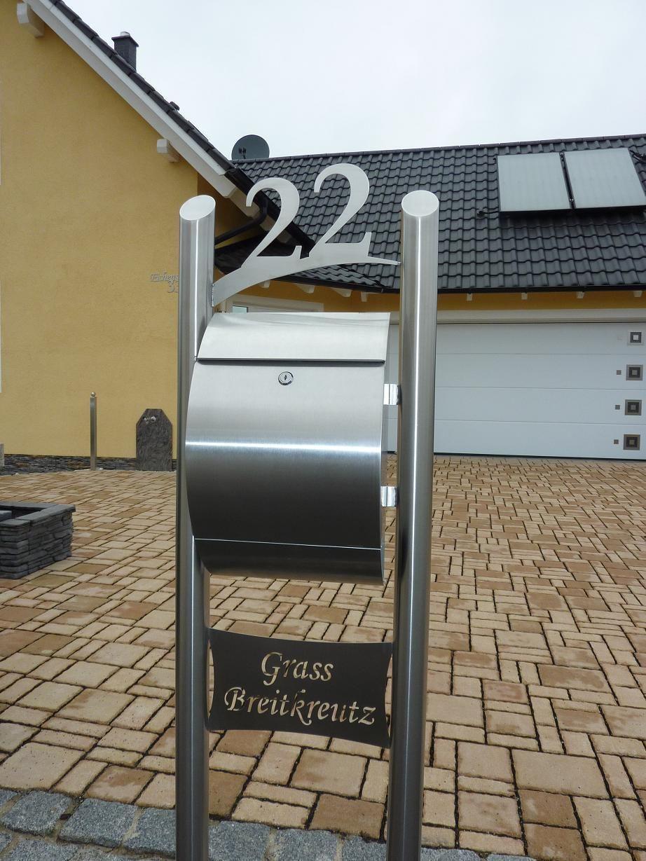 Briefkasten Standbriefkasten freistehend Edelstahl Munchen