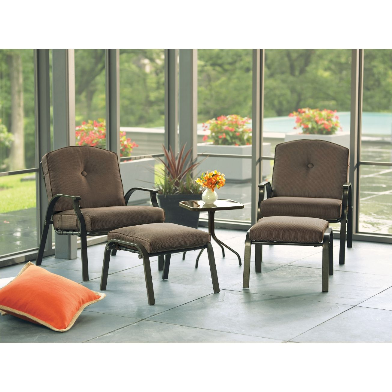 Superb Living Accents 5 Piece Aspen Conversation Set   Patio Collections U0026 Seating  Sets   Ace Hardware
