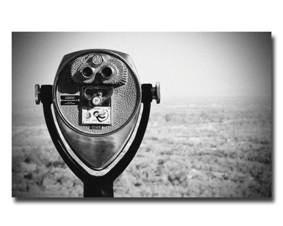 "Black & White Tourist Viewfinder HD Aluminum Print available in 5x7"" 8x12"" 11x14"" 12x18"" 24x30"" by shoppronetowander"