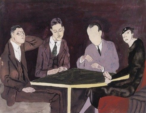 by Ben Shahn 'F.Scott Fitzgerald With friends'
