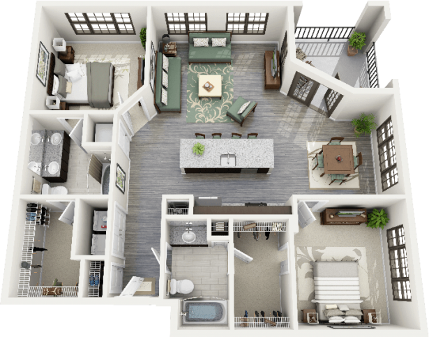 Bedroom New One Bedroom Apartments Design Apartments Floor Plans And 3d On Pinterest One Bedroom Apartments Near Atlan House Plans Sims House Plans Floor Plans
