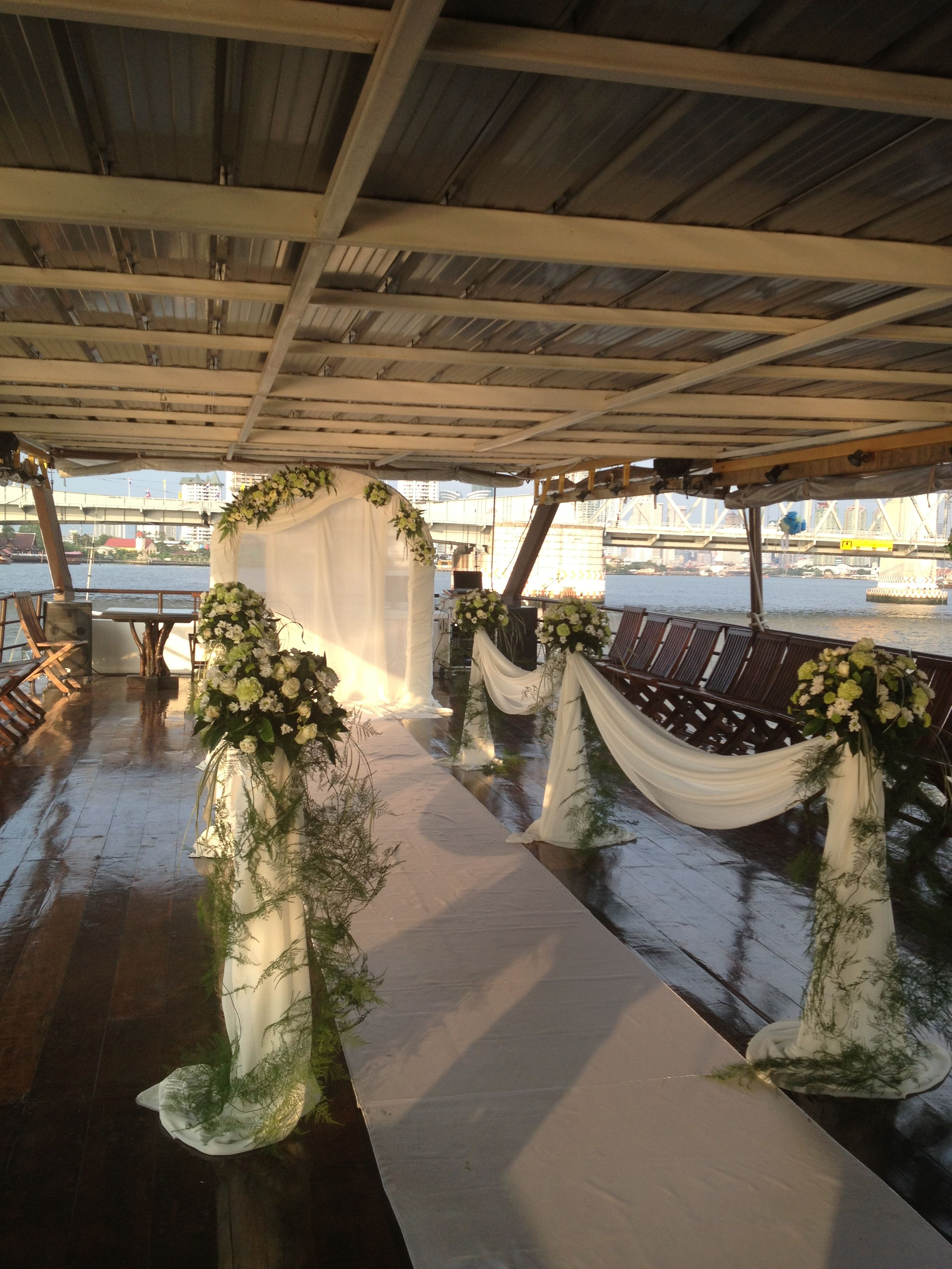 Private Cruise Wedding.^^ wedding arch and aisle