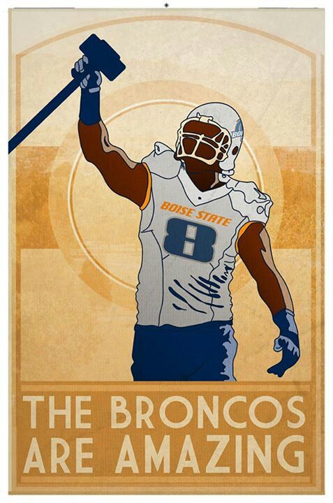 It is a tradition and honor to carry the Hammer onto The Blue. Go Broncos!