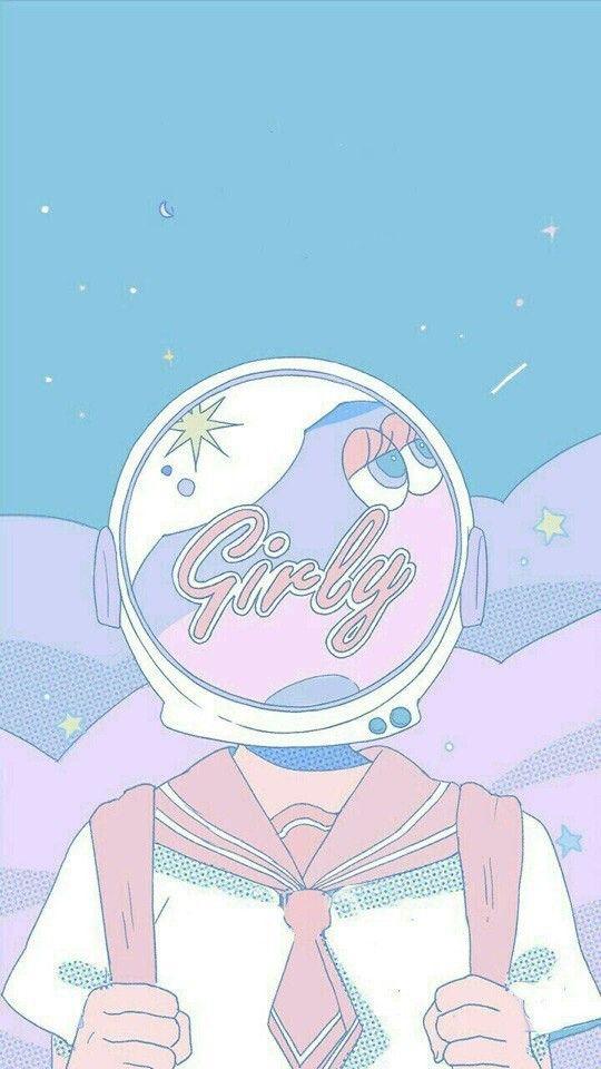 Download Anime Illustration Aesthetic Lock Screen Pastel Cute Aesthetic Wallpaper Pics
