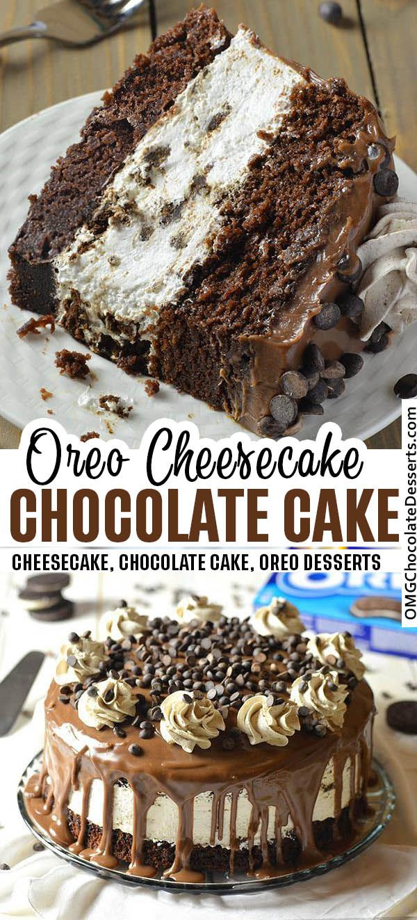 Oreo Cheesecake Chocolate Cake - what a great combination