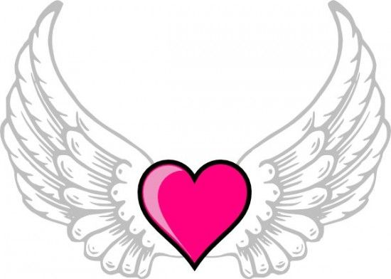 Heart With Wings Coloring Pages To Print Image All About Free