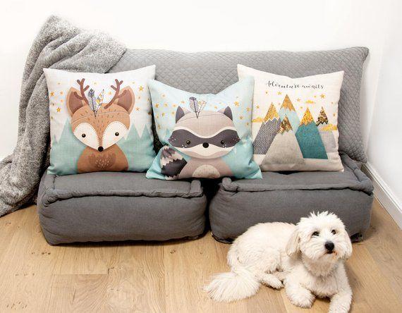 Nursery Pillows Throw Pillow Cover