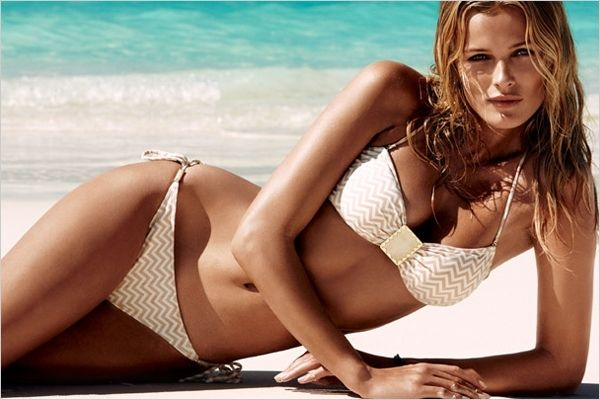 chevron gold bikini
