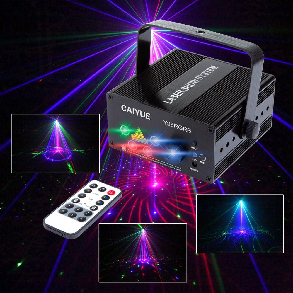 New 96 Patterns Rgb Mini Laser Projector Light Dj Disco Party Music Laser Stage Lighting Effect With Led Blue Laser Stage Lighting Disco Lights Stage Lighting